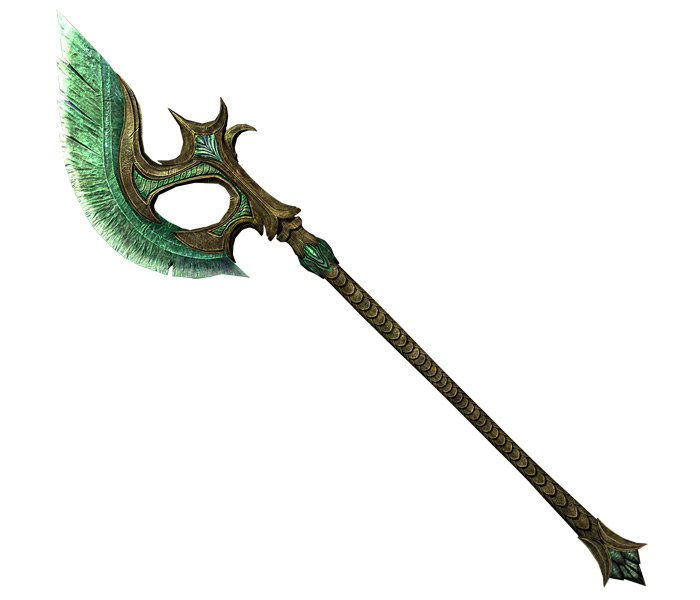 Glass Battle Axe Skyrim