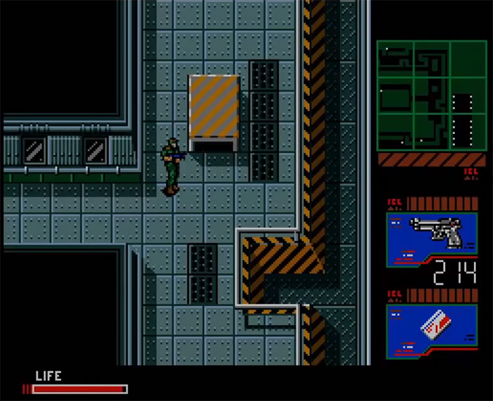 Solid Snake gameplay 1990