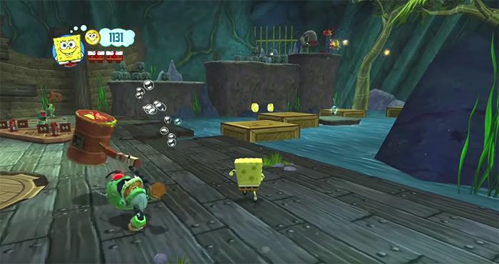 SpongeBob's Truth or Square game