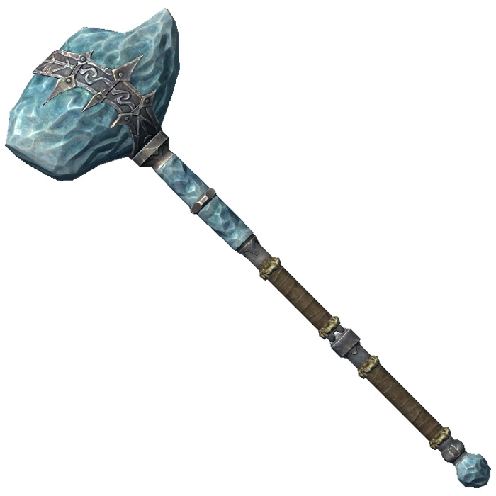 Stalhrim Warhammer in Skyrim
