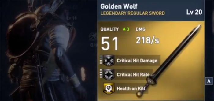 Golden Wolf AC Origins