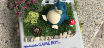 Snorlax old school Game Boy planter