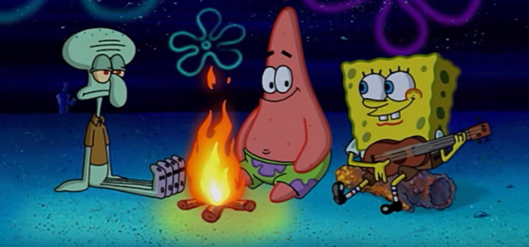Campfire song song with Patrick Squidward and SpongeBob