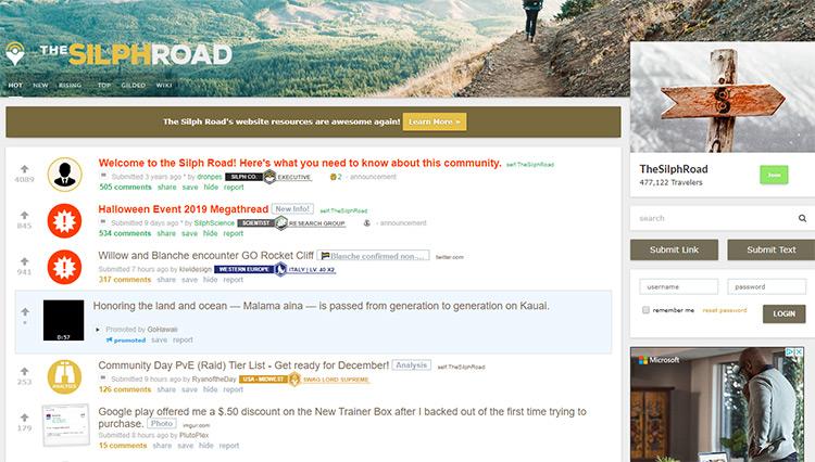 Reddit silph road subreddit