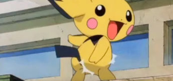 Pichu butt slap taunt in the anime