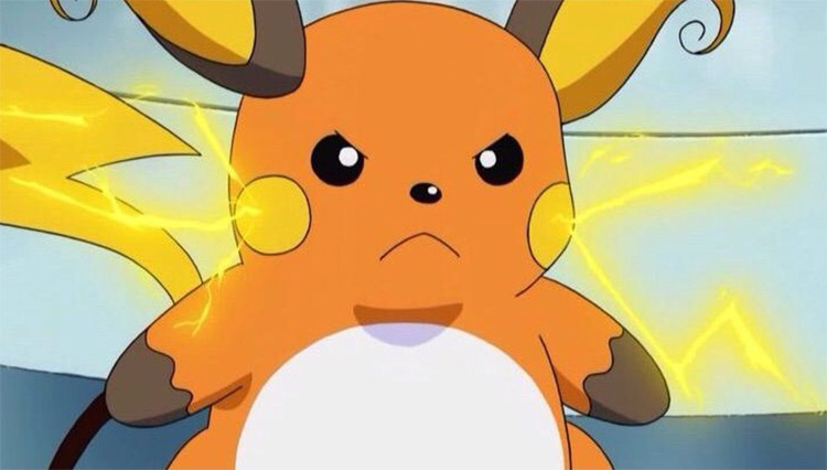 Raichu in the anime