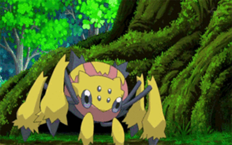 Galvantula in Pokemon anime