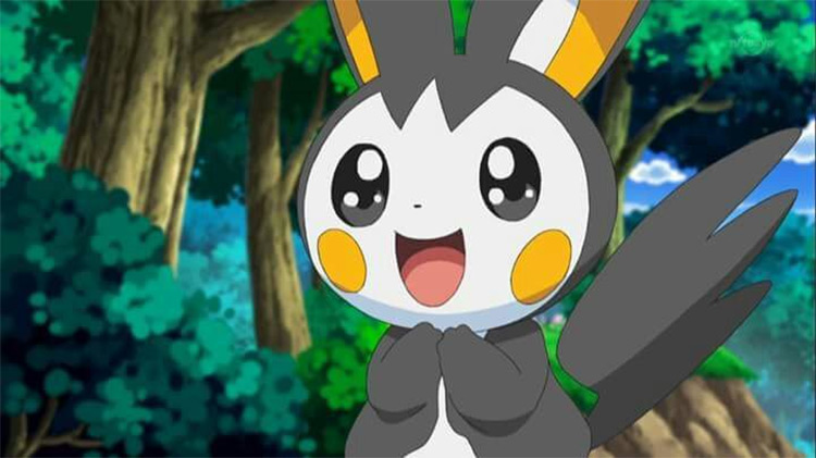 Emolga in the anime