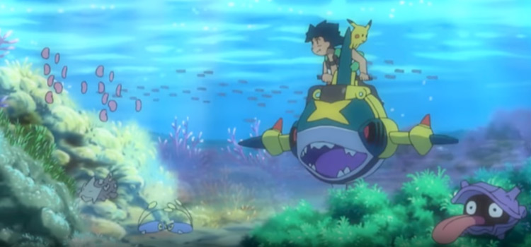 Underwater in Alola with Sharpedo & water pokemon