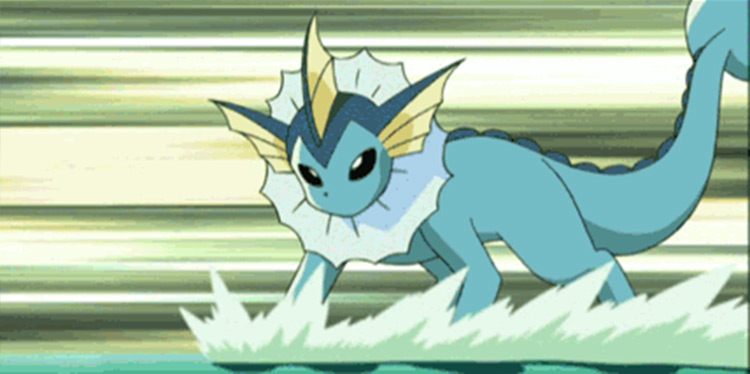 Vaporeon in the anime