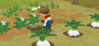 Harvest Moon Animal Parade - watering turnips