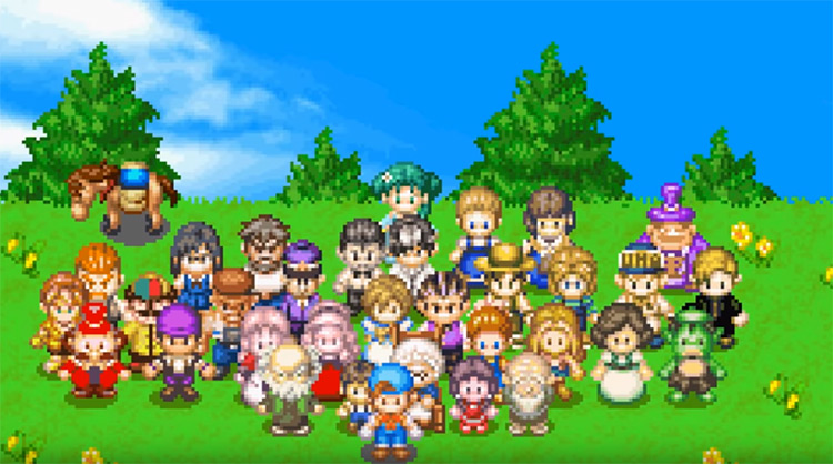 Friends of Mineral Town, the best Harvest Moon game