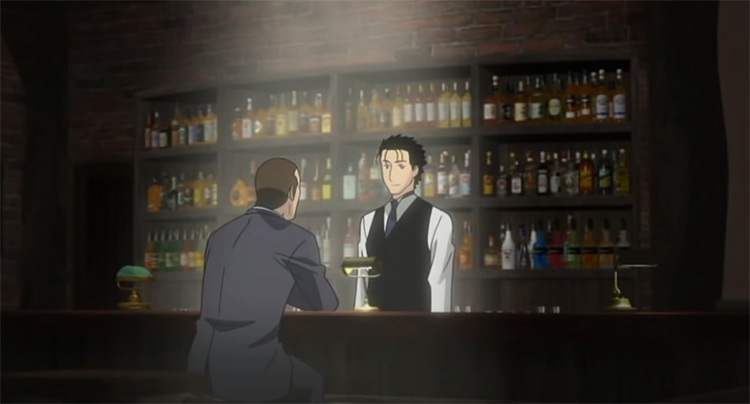 Bartender, cooking themed anime screenshot
