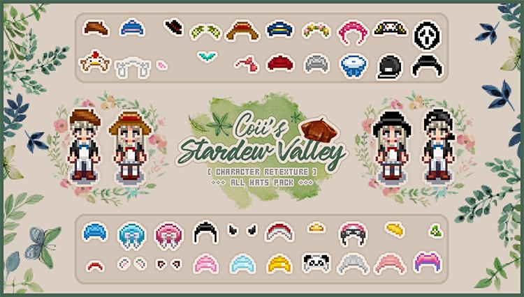 All Hats Pack Stardew Valley mod screenshot
