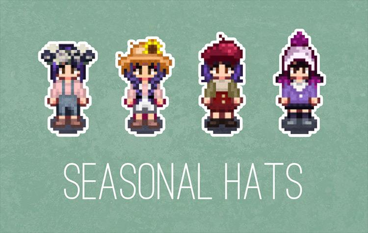 Seasonal Hats Stardew Valley mod screenshot