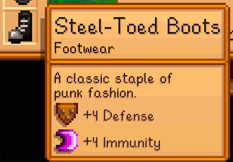 Space Boots To Steel-Toed Boots mod for Stardew Valley