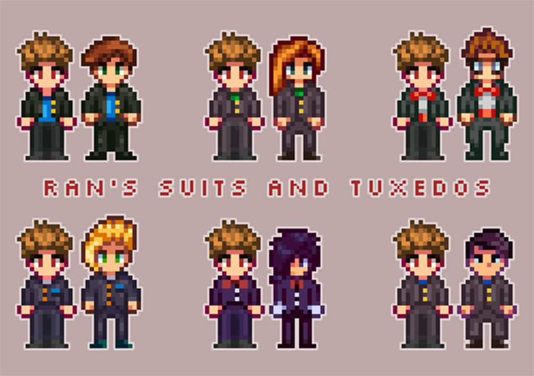 Suits and Tuxedos Stardew Valley mod