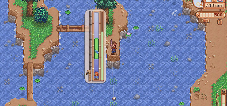 Stardew Valley fishing screenshot modded