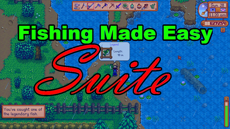 Fishing Made Easy Suite Stardew Valley mod