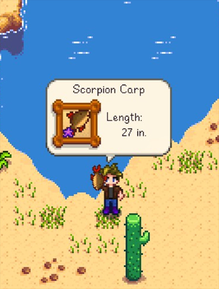 Desert Fishing Stardew Valley mod screenshot