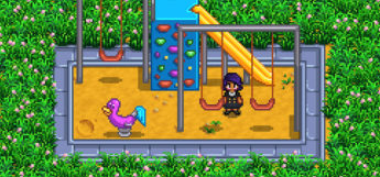 Kids playground furniture in Stardew Valley