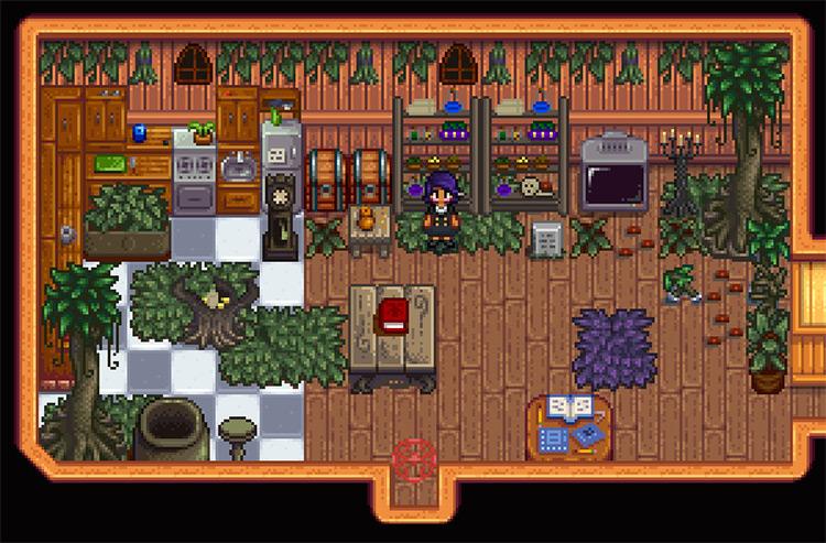 Witch Furniture Stardew Valley mod screenshot