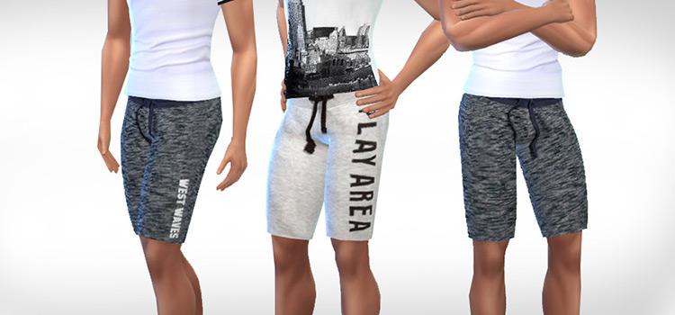 Bermuda Sports Shorts TS4 Custom Content