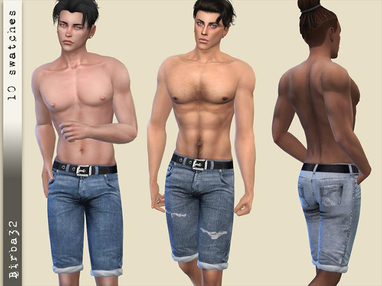 Beach Denim Sims 4 CC screenshot