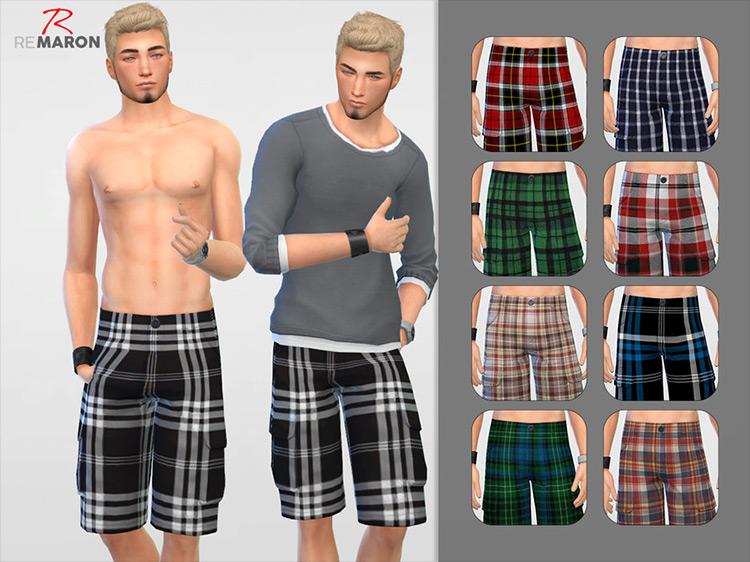 Grid Shorts Sims 4 CC screenshot