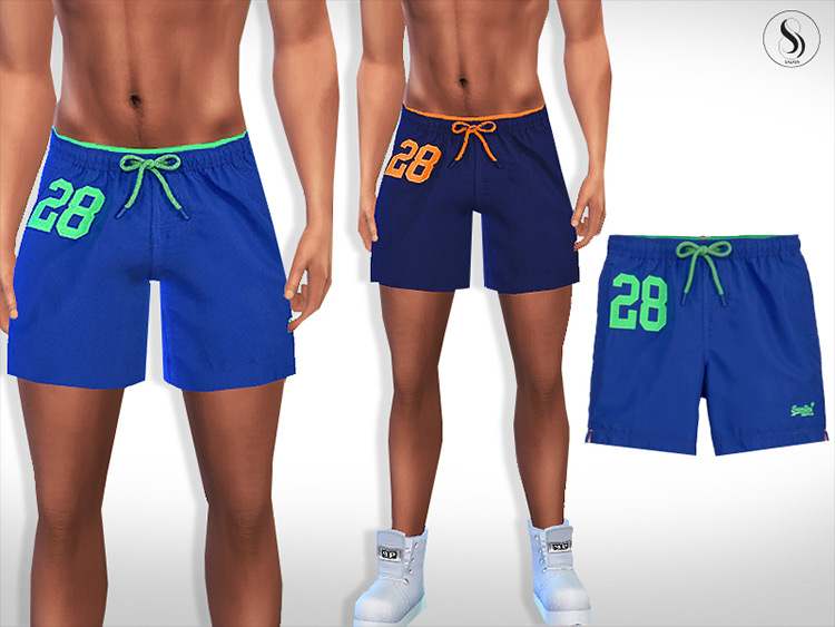 Colourful Athletic Shorts Sims 4 CC