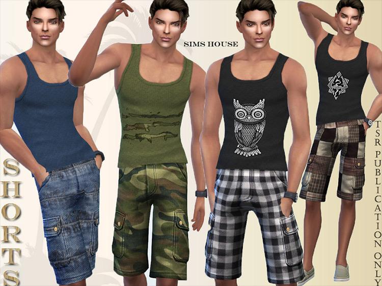 Safari Shorts CC for Sims 4