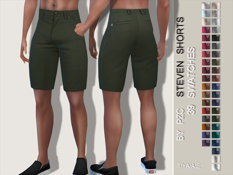 Stylish Steven Shorts CC for Sims 4