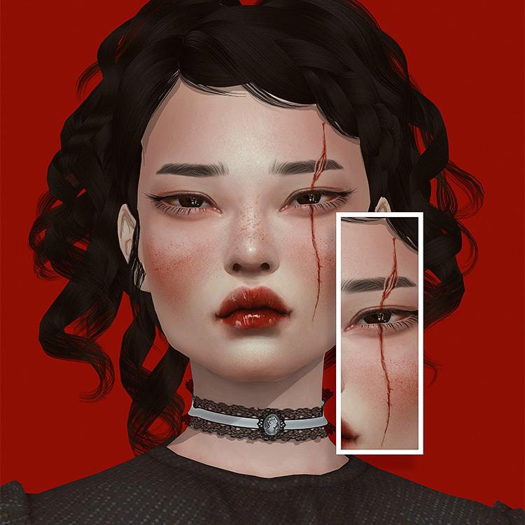 Scars N7 Sims 4 CC