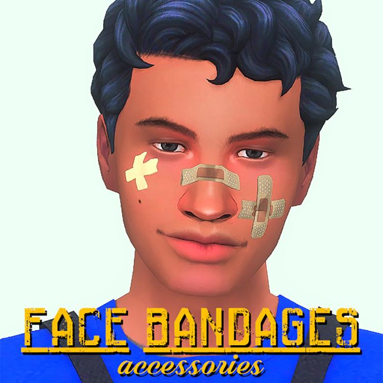 Face Bandages Sims 4 CC