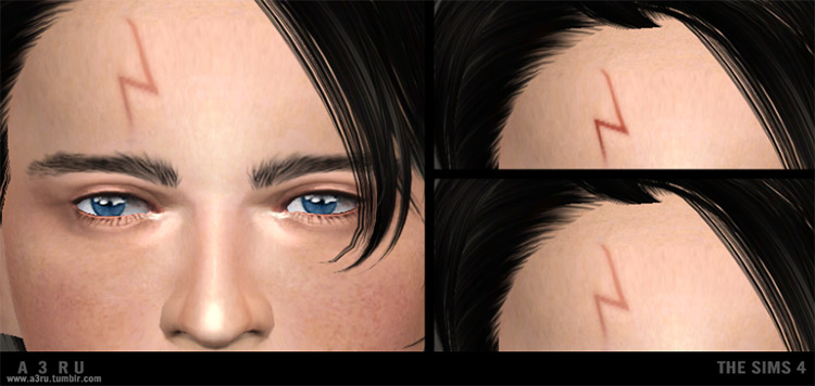 Harry Potter's Scar Sims 4 CC
