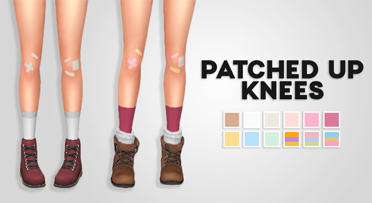 Patched Up Knees for Sims 4