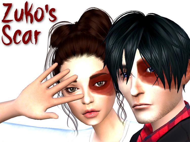 Zuko's Scar Sims 4 CC