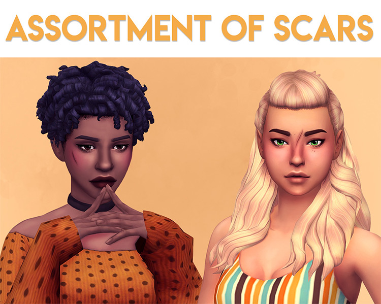 Assortment of Scars Sims 4 CC screenshot