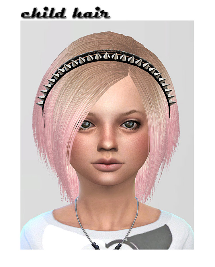ShojoAngel Child's Hair With Headband Sims 4 CC
