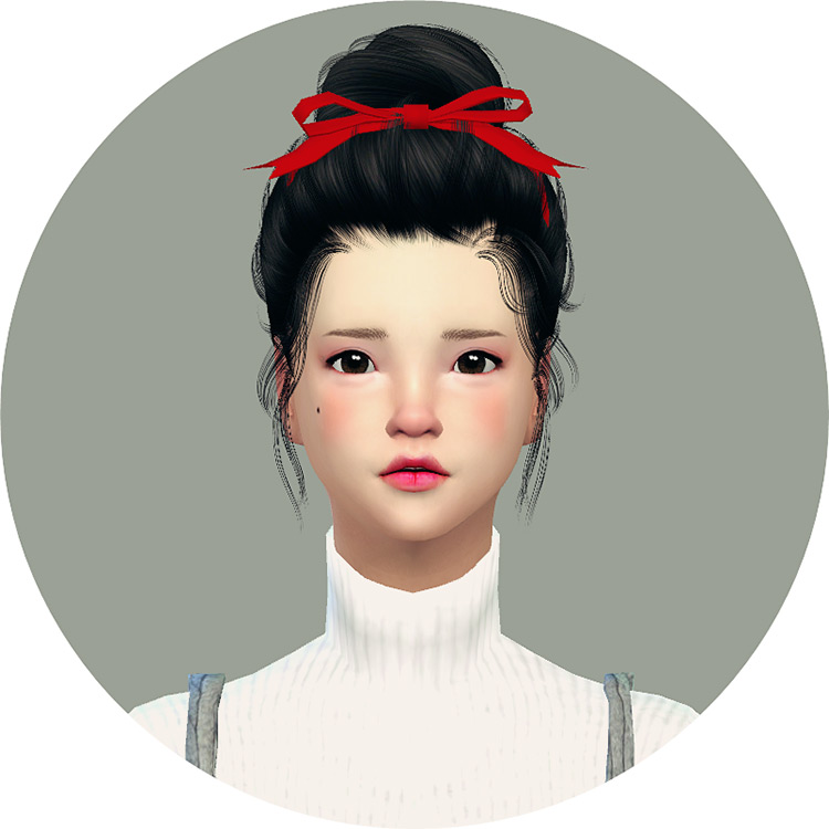 Head Ribbon Sims 4 CC