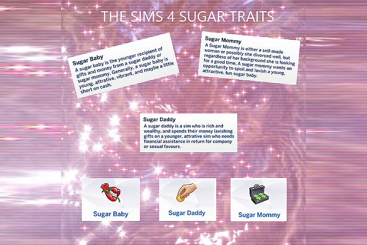 Sugar Traits Sims 4 CC