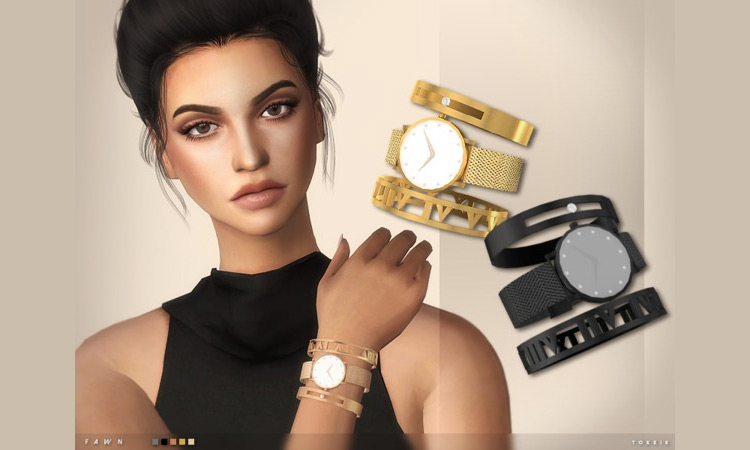Fawn Watch And Bangles for Sims 4