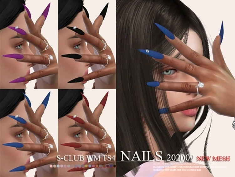 S-Club WM Nails for Sims 4