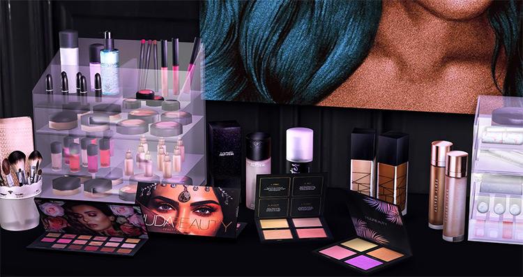 Beauty Guru Makeup Clutter for Sims 4