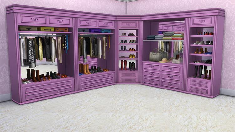 Walk In Closets Sims 4 CC screenshot