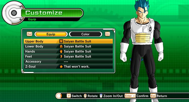 Saiyan Battle Suit Xenoverse 1