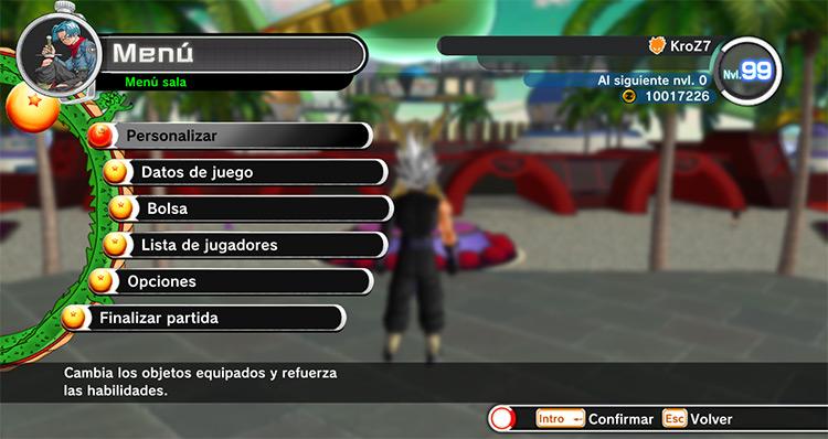 New Menu for Xenoverse 1