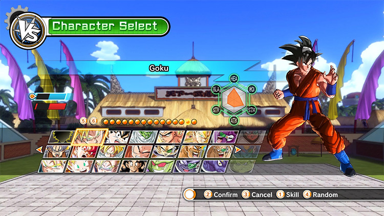 Dokkan Battle Character Selection Mod for Xenoverse 1