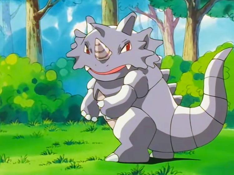 Rhydon Pokemon anime screenshot