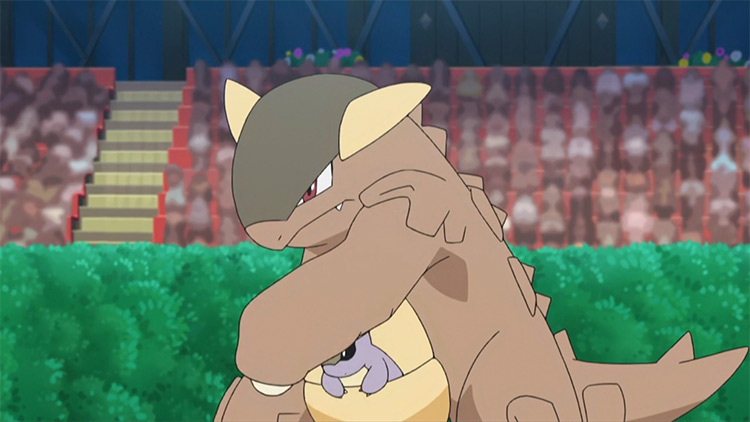 Kangaskhan Pokemon anime screenshot